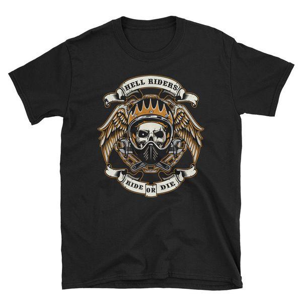 Biker T-Shirt Herren gotische Geschenk Schädel Fahrrad Fahrer Chopper Motorrad Rock Metall
