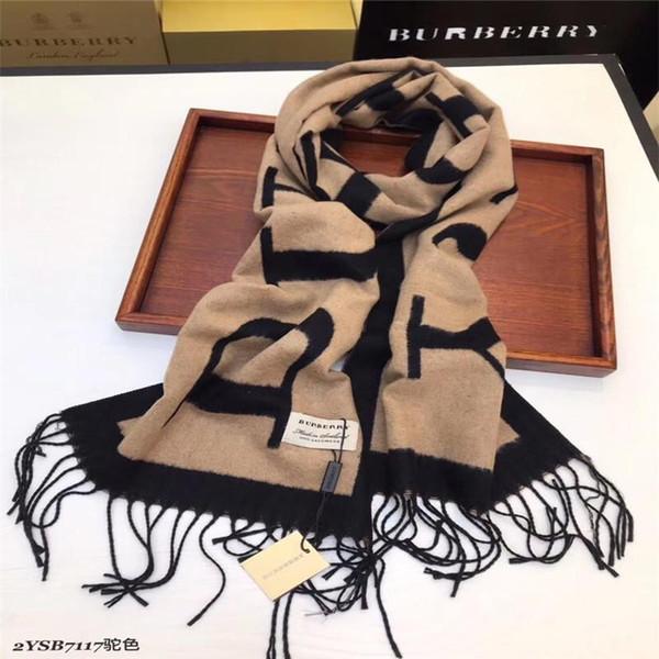 2019 New Style Fashion Marque écharpe unisexe vente chaude design simple et classique écharpe Foulards motif Letter Casual