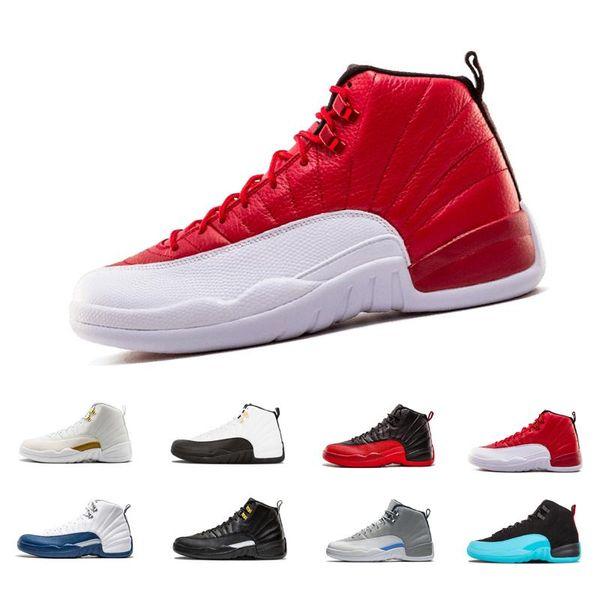 Neueste 12 12s Männer Basketball-Schuhe weiß der Meister Black Nylon Grippe Spiel Taxi Playoffs Wolf grau Wolle Sportschuhe Sneaker