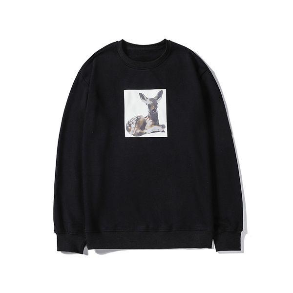 Tasarımcı Marka Erkek Woemens Kazak Moda Outwearing Uzun Kollu Bluz Güzel Tavşan Geyik Baskı Tişörtü Yüksek Kalite LSY98277