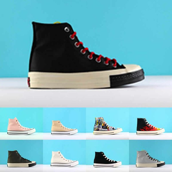 2019 Play All Stars Shoe CDG Canvas conversa scarpe With Eyes Hearts Brand Beige Black designer casual running Skateboard Sneakers 35-44