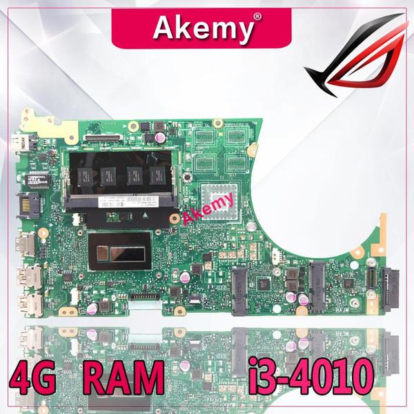 Akemy S551LA Laptop motherboard for ASUS S551LA S551LB S551LN S551L R553L S551 Test original mainboard 4G RAM I3-4010