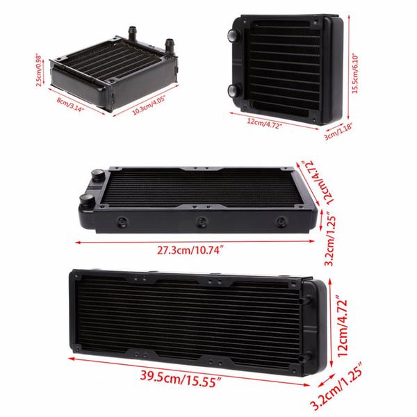 1 Pc 80/120/240 / 360mm Refrigerador de agua de aluminio del refrigerador del agua del refrigerador para la CPU GPU VGA RAM Refrigerador de líquido del intercambiador del disipador de calor