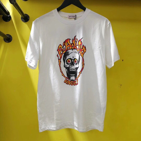 New Palm Angels T shirt Uomo di alta qualità Palm Angels Skull stampa Summer Style Top Tees Palm Angels T-shirt S-XL