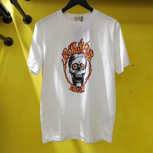Nouveau Palm Angels T-shirt Homme Haute Qualité Palm Angels Impression de crâne Été Style Top Tees Palm Angels T-shirt S-XL