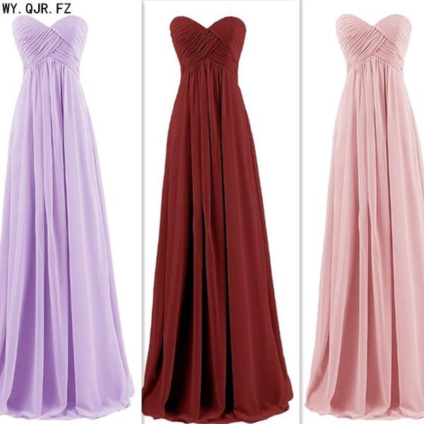 LLY-6958L # Verde Chiffon longo damas de honra vestidos noiva festa de casamento brinde vestido de baile personalizado por atacado Plus Size mulheres '