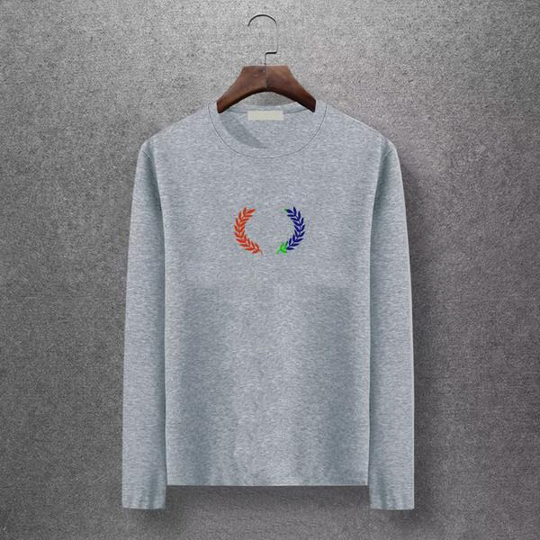2019 Orelha de trigo Imprimir Marca Mens moda camisa de manga longa Plus M-6XL alta qualidade Juventude Camisas Casual Primavera Outono Camisetas EAR98307