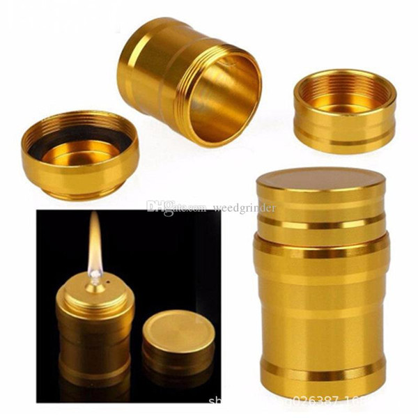 Wholesale mini protable Aluminum alcohol lamp cheap stainless steel Metal alcohol lamps for smoking hookah accessories oil rig bong bowl