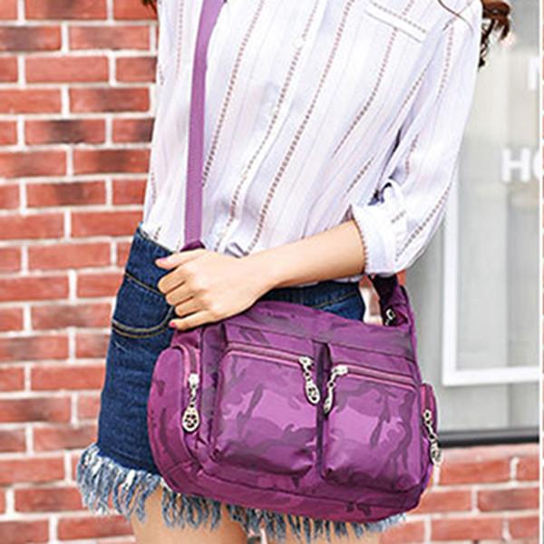 Gewaschene Oxford-Damentasche Umhängetasche für mehrere Taschen Mummy Travel Shoulder Tote