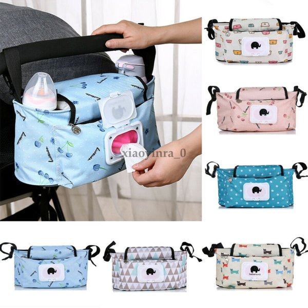 UK Baby Organiser Cup Bottle Holder Bag Storage Buggy Stroller Pram Pushchair