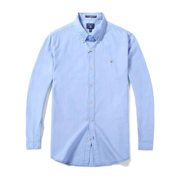 Comercio al por mayor de los hombres Camisas de vestir de negocios 2019 Vestido de otoño e invierno Moda de manga larga para hombres camisa casual hombres camisas chemise homme marque