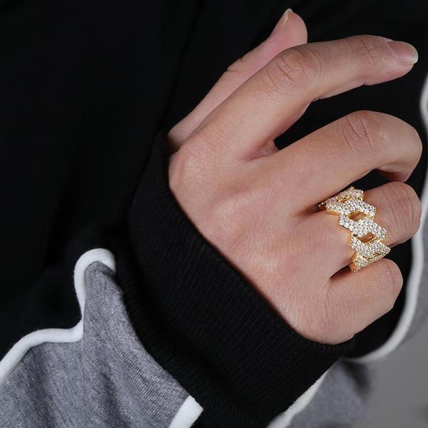 Hip-Hop-Schmuck Verlobungsringe Hochzeit Sets Luxus Designer Diamant Liebe Herren Ring vereisten Gold Ring Pandora Stil Charme Jungen Zubehör