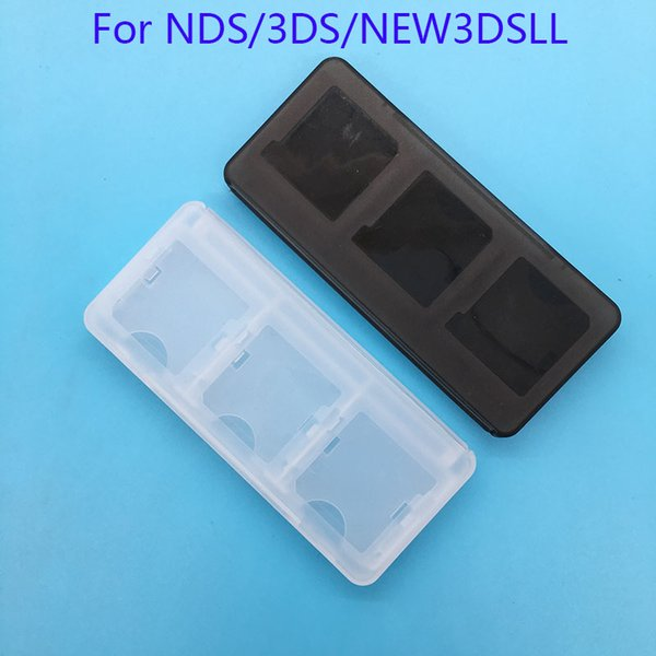 50 Pieces/LOT 6in1 Clear Protective Hard Plastic Storage Box Case Holder for Nintendo NDS 2DS NDSL NDSI New 3DS LL/XL 3DSXL 3DSLL Game Cards