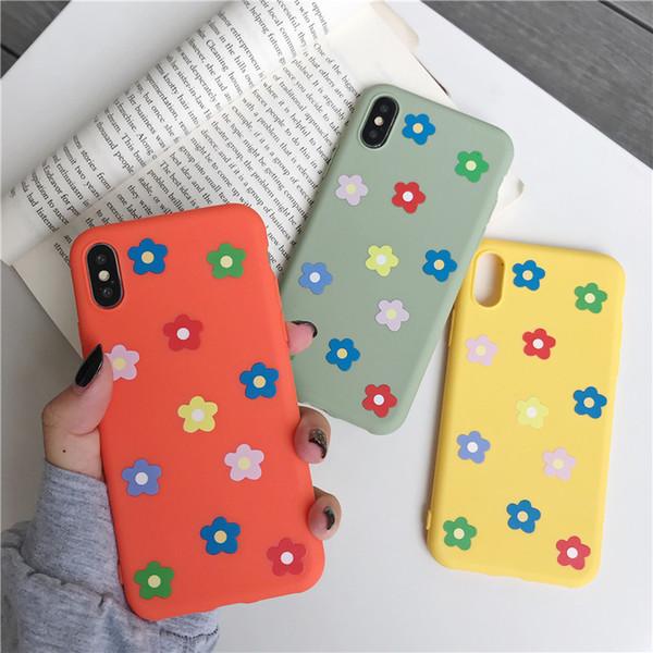 Flor macio tpu case para iphone 6 6 s 7 8 plus x xs max xr dos desenhos animados casal capa casos de telefone
