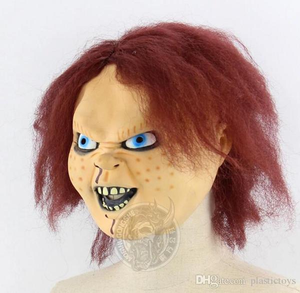Bebê do fantasma Retornando Alma suportes do filme Chakit boneca Latex Máscara Dance Party Bar Halloween Terrorist Chapelaria Atacado frete grátis