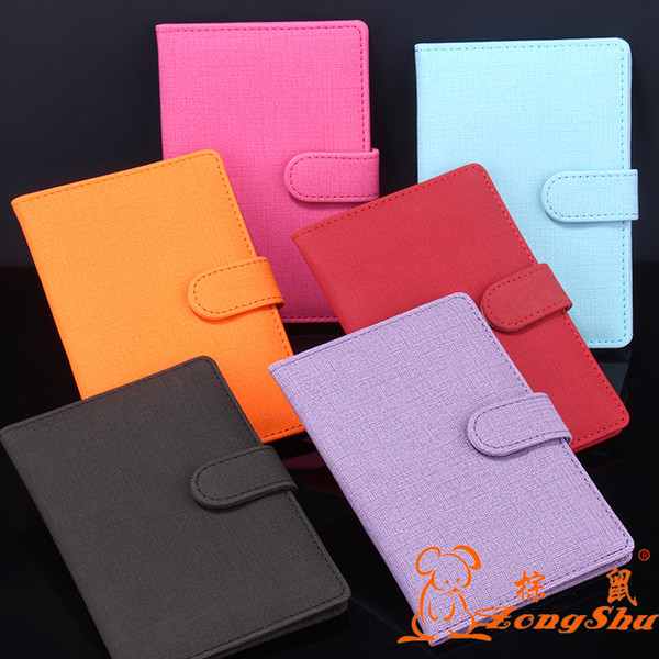 Hot Famous Brand Women Passport Cover Colorful Soft Travel Documents Passport Holder Passports Covers Case with hasp