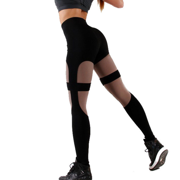 High Fashion Taille Leggings Frauen Fitness Workout Leggings Gothic Schwarz Patchwork Leggins Mujer Jeggings gute qualität