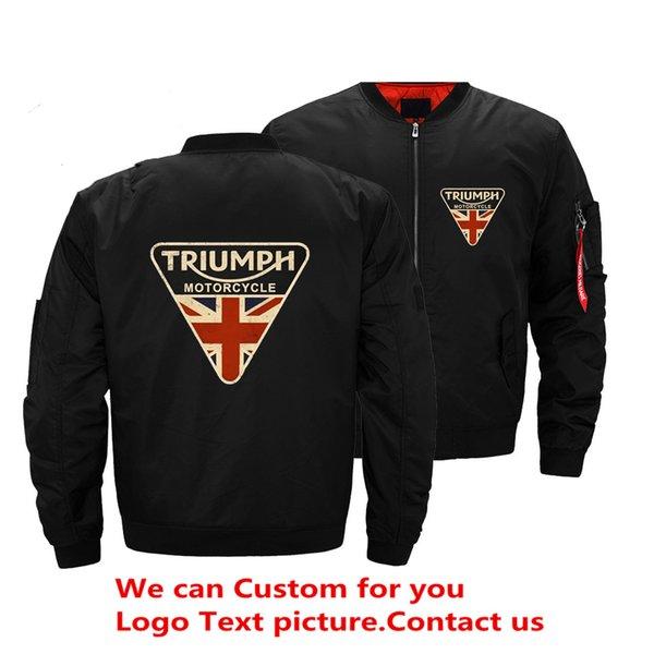 Craked Union Jack Triumph Moto Royaume-Uni Drapeau Hommes Blouson Bomber Hip Hop Slim Fit Pilote Blouson Veste Manteau Hommes Vestes