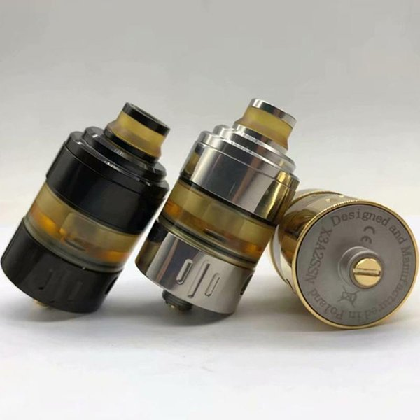 3 Colors Clone Marstech Hussar Project X Style 22mm RTA Replaceable Tank Atomizer Adjustable Bottom Airflow Top Filling System Hot Cake DHL