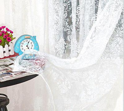 top popular New classical classic flower curtain window screening customize finished products coffee white light yellow tulle curtain 2021