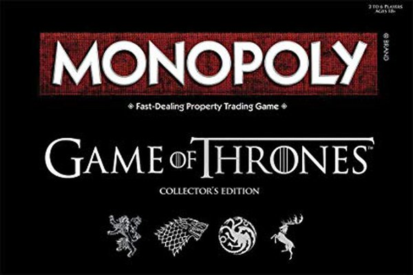 Monopoly Game of Thrones Board Game Themed Monopoly Board Game Perfect Gift or Activity for Thrones Fans Cards