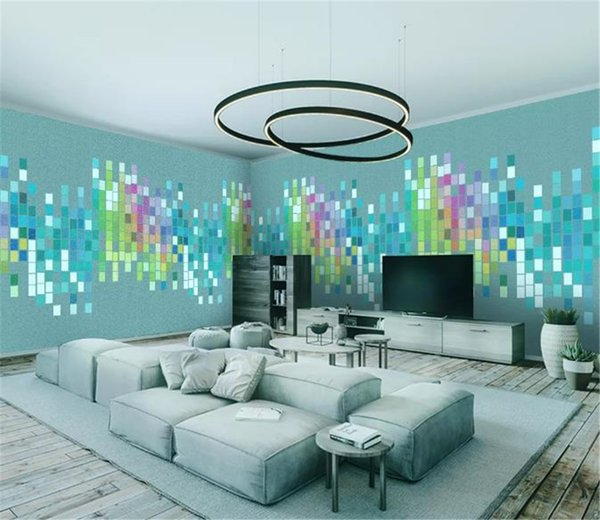 Checkered Audio Abstract Minimalistic House Background Wall Big Promotion For Wallpaper