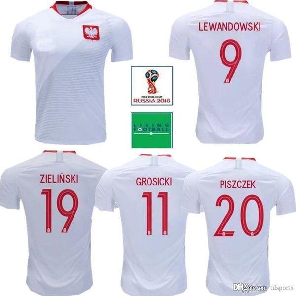 Compre 18 19 Hombres POLONIA Camisetas De Fútbol Cortos Hoga