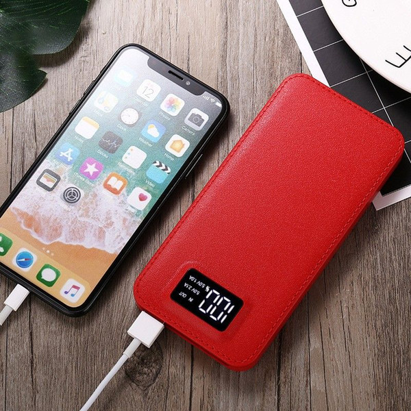 Power Bank 20000mAh Dual USB LCD Power Bank Smartphone Schnellladegerät Externe Batterie Tragbar für iPhone 6 7 8 X für Samsung
