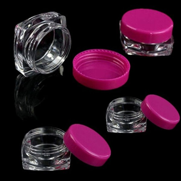 10 Pcs transparent Sample Container Small Square Bottle Cosmetic Empty Jar Pot Eyeshadow Lip Face Cream Storage Bottle
