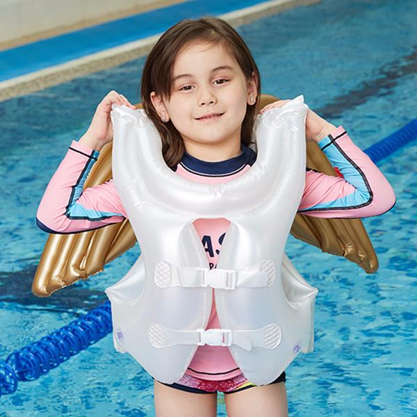 Costumi da bagno per bambini Angel Design Giubbotti di salvataggio gonfiabili per bambini e ragazzi Gilet estivo per bambini Attrezzature da nuoto galleggiante
