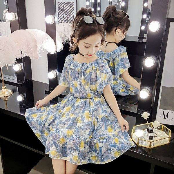 2019 summer dresses for girls floral 12 years old children 8 years princess costume