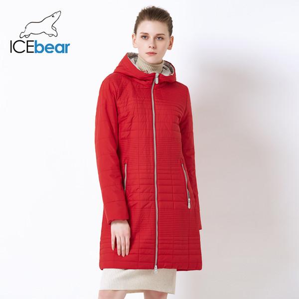 2019 Bahar Uzun kadın Hood Ile Hood Moda Kadınlar Yastıklı Marka Bahar Ceket Parka 17G292D