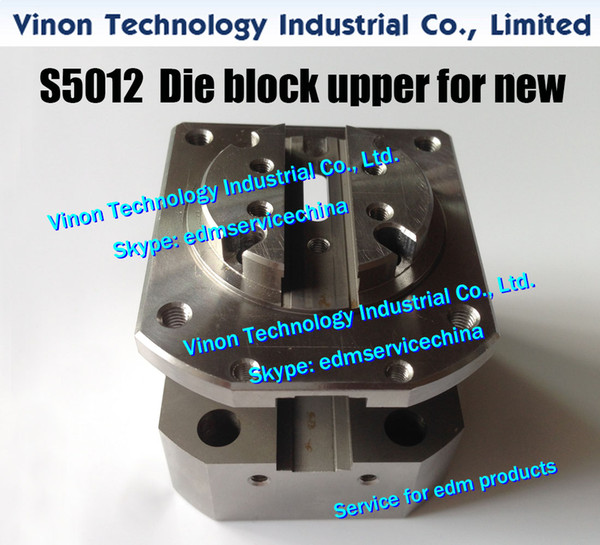 (1pc) S5012 Die block upper for new type AWT 3082519 for Sodic AQ325L,AQ535L,AQ360 series wire cut edm machines