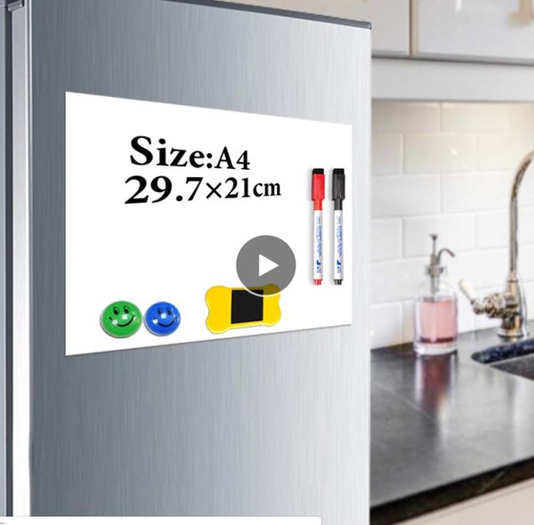 Magnet whiteboard A4 soft magnetic board, Dry Erase drawing and recording board For Fridge Refrigerator with Free gift