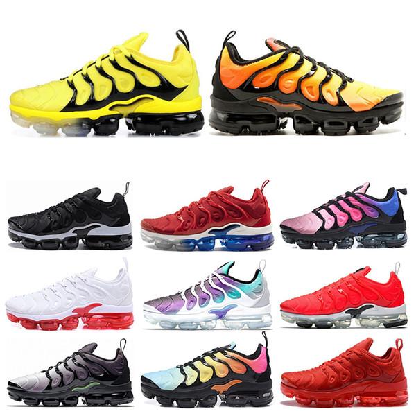 nike air vapormax plus 2019 Megatron Bumblebee Men Running Shoes para mujer UVA Hyper Blue Game Royal Mens mujer Negro Volt verde zapatillas deportivas Tamaño 36-45