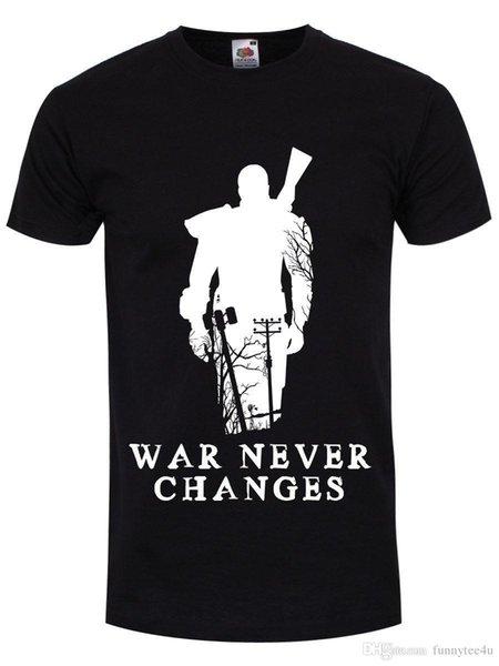 Война никогда не изменяет мужская черная футболка Футболка мужчины Camisa де Баскета белый с коротким рукавом пользовательские XXXL семьи Camiseta