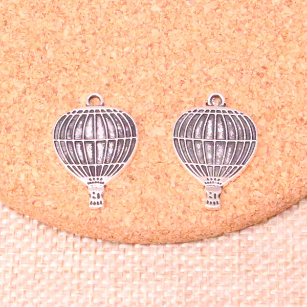 107pcs Charms hot air balloon Antique Silver Plated Pendants Fit Jewelry Making Findings Accessories 24*16mm