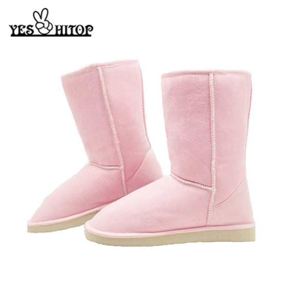 2019 euro35-40 brief slip-on mild-calf soft flock anti-slip snow boots women winter boots female snow shoes
