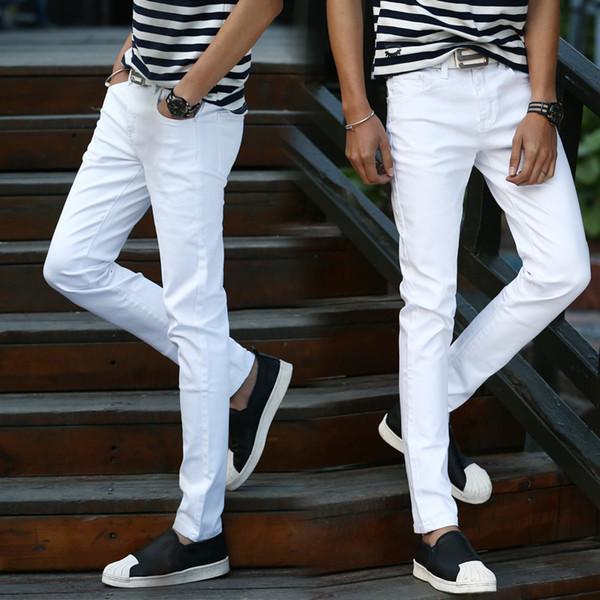 Elastische Jugend Männer Füße Hose koreanische Version der Selbstkultivierung kleine gerade lange Hose Frühling und Sommer Jugend Jeans th