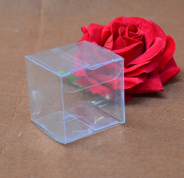 50pcs/lot small square pvc boxes for gift packaging,size 4*4*10CM box pvc transparent packaging/ clear plastic packing boxes