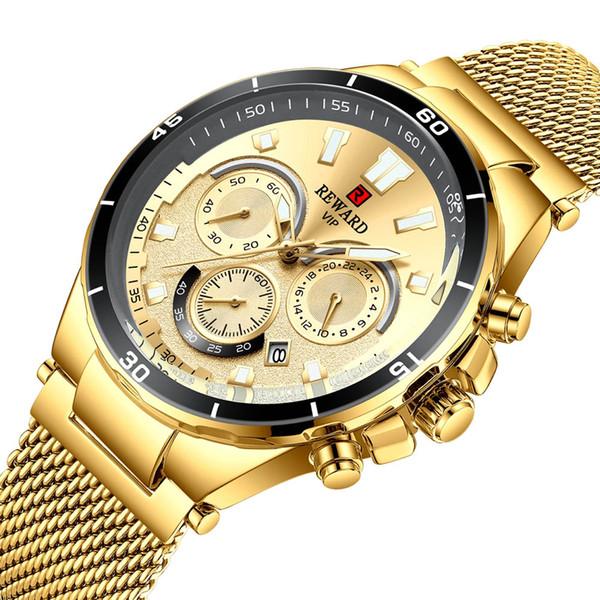 Luxury Golden Watches Men 24 Hours Quartz Wrist Watch Stainless Steel Business Watches Man Classic Clock Male Relogio Masculino