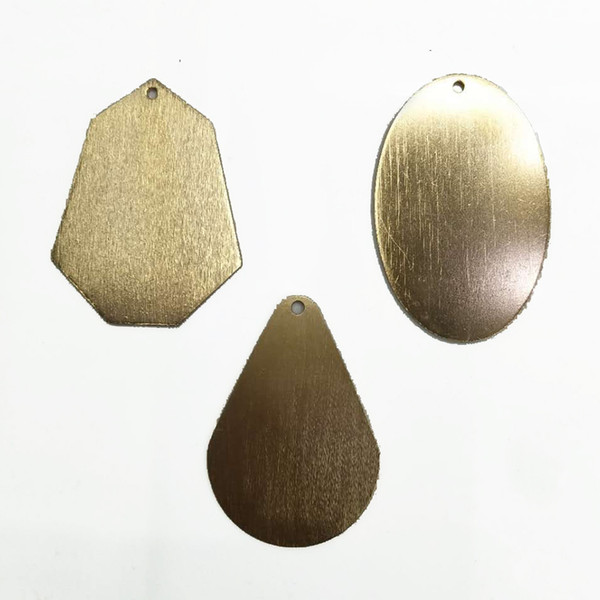 Wholesaling Aluminum Oxided Gold Silver Color Connectors Charms Pendants Oval Decorative Accessories Jewelry Findings & Components for DIY