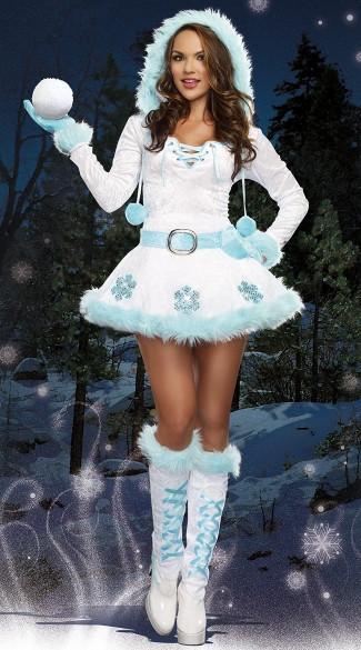 Costumes Árvore de Natal azul de luxo trajes de festa de Natal de Papai Noel Mulheres Sexy Dreamy Snow Maiden Vestido Xmas