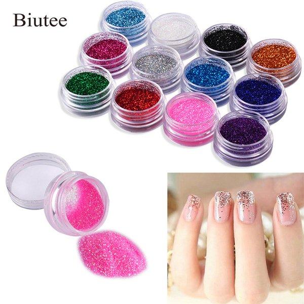 Buitee 24PCS Brillo para uñas en polvo Dip Powder Rose Gold Decoración cromada duradera que UV Gel Brillo para uñas