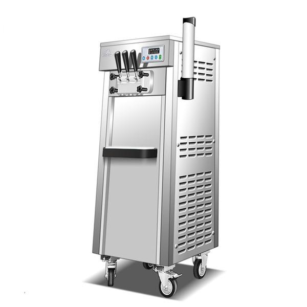 Коммерческая мягкая подача мороженого машина электрическая 28L / H R22 вкусов сладкий конус мороженого 110 В / 220 В 1700 Вт