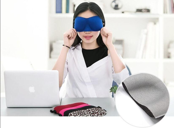 Vendita calda Maschera per il sonno 3D Copertura dell'ombra imbottita Viaggio Rilassatevi Bende Occhi Copertura Maschera per dormire Strumenti per la cura degli occhi
