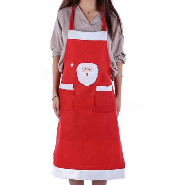 décorations de noël tablier de Noël du Père Noël Tablier clothes Cartoon maison cuisine double tablier de poche décorative FFA3137-1