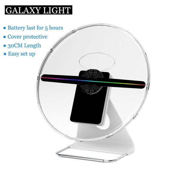 FACTORY 30CM 256 led Batterie intégrée HD Support de table Publicité Spinning displayer joueur hologramme Holographique 3D LED lumière FAN avec couvercle