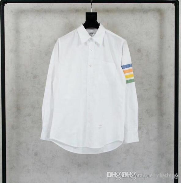 Oxford Spinning Rainbow Shirt Weiß gefärbter Oxford-Textilgürtel aus Baumwolle mit hoher Dichte