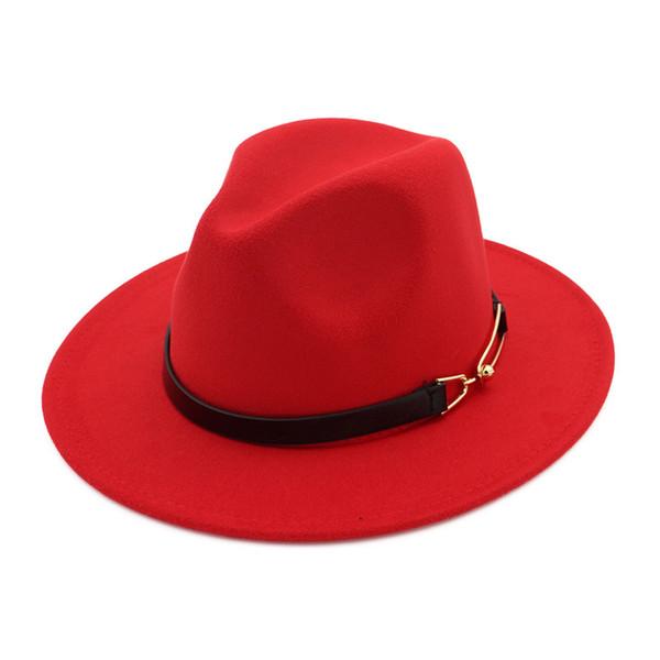 Cappelli Fedora per uomo donna Designer cappello in feltro di lana da uomo con fibbia per cintura Cappello a tesa larga Cappello jazz Autunno Inverno Cappellino Panama Trilby Chapeau